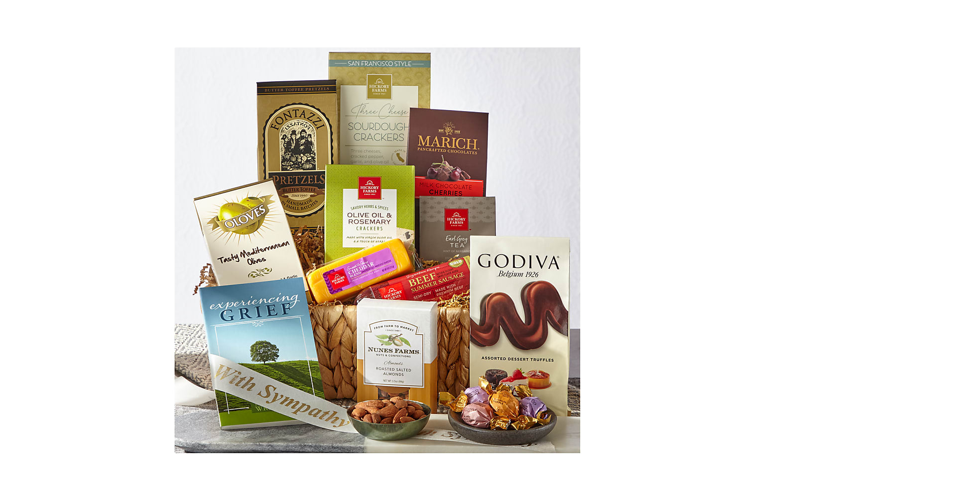 With Sympathy Bereavement Gift Basket