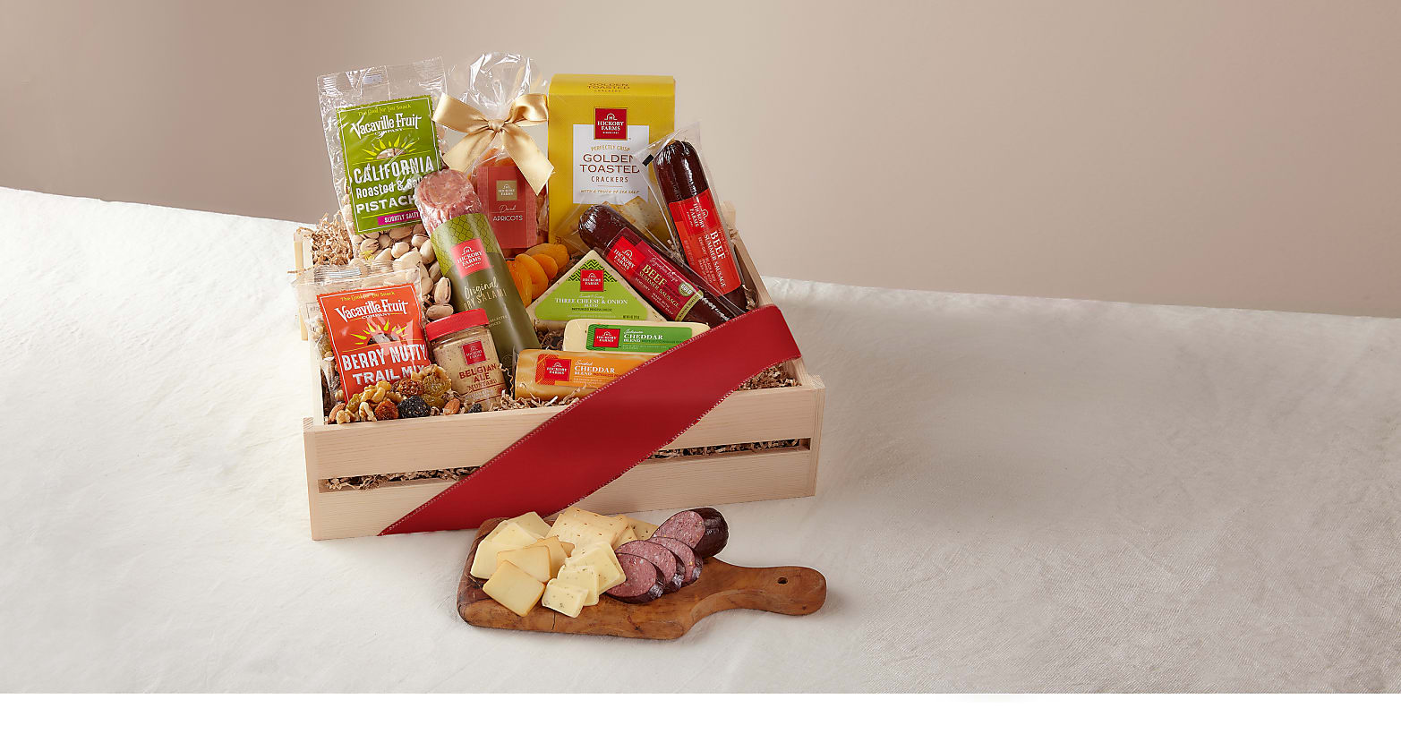 Deluxe Meat & Cheese Charcuterie Gift Basket