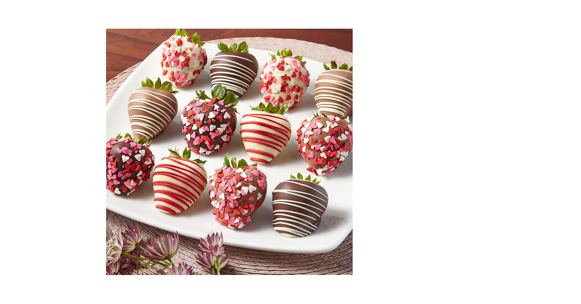 Valentine's Day Belgian Chocolate Covered Strawberries - Image 1 Of 2