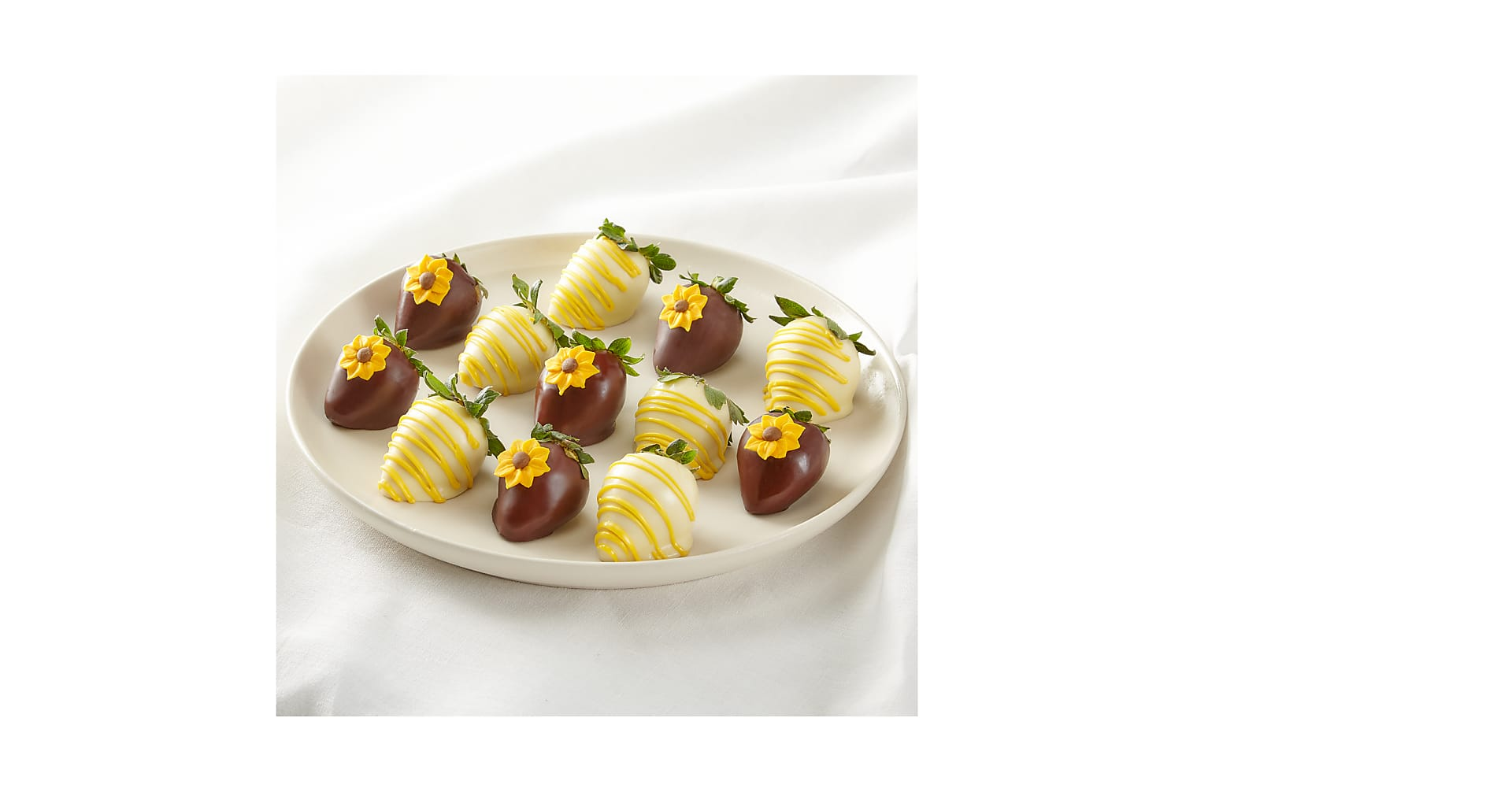 Full Dozen Sunny Days Belgian Dark Chocolate-Covered Strawberries - Image 1 Of 2