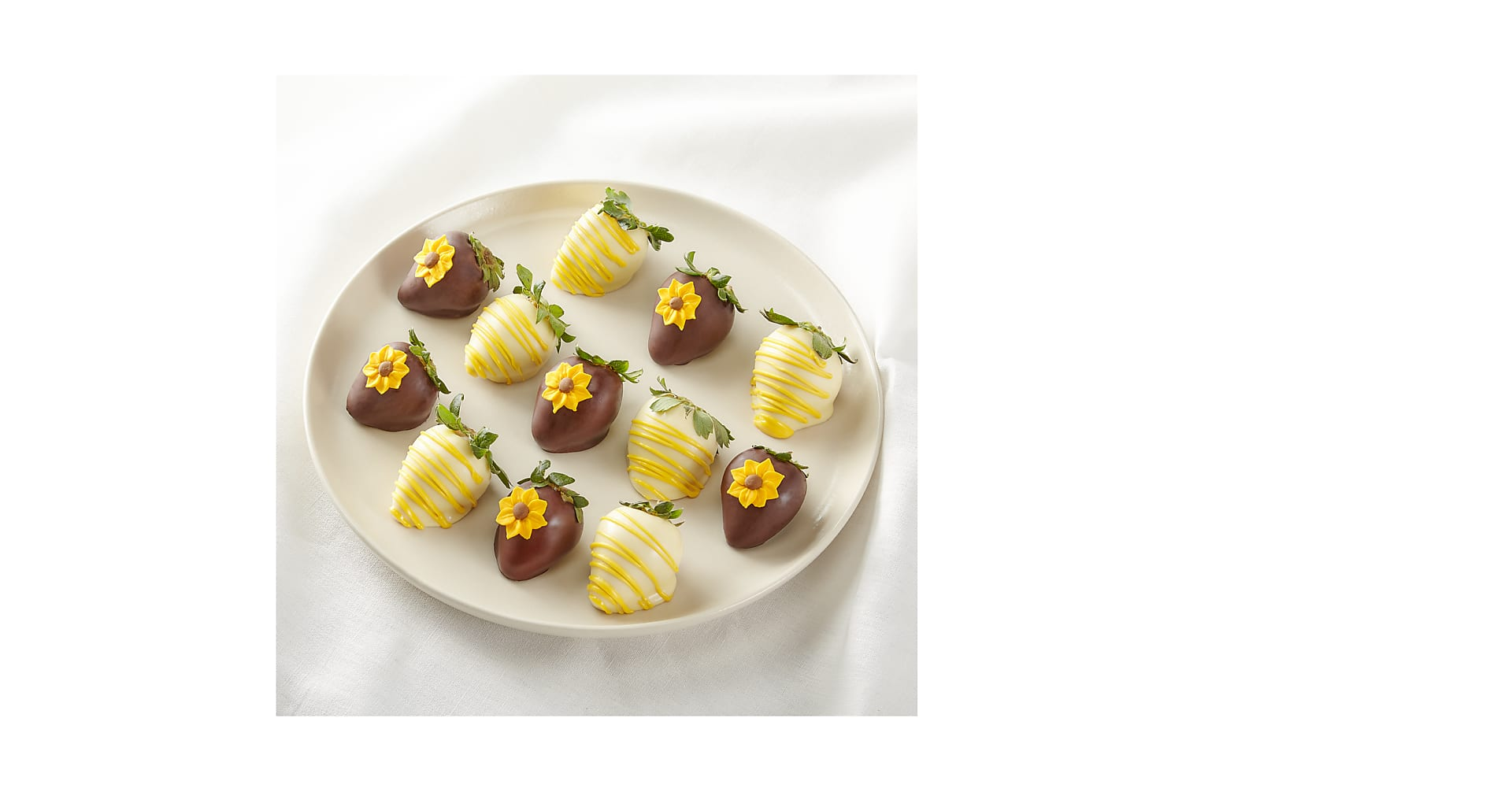 Full Dozen Sunny Days Belgian Dark Chocolate-Covered Strawberries - Image 2 Of 2