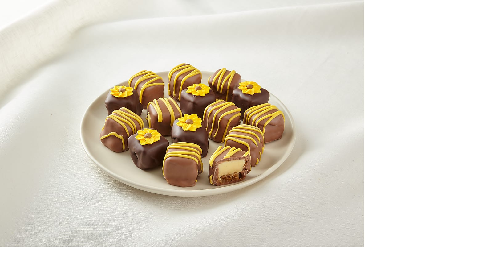 Sunny Days Belgian Chocolate-Covered Cheesecake Bites - Image 1 Of 2