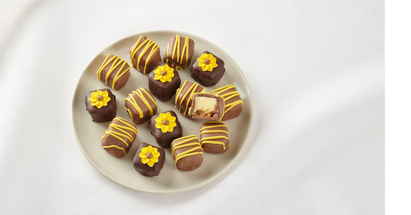 Sunny Days Belgian Chocolate-Covered Cheesecake Bites - Image 2 Of 2