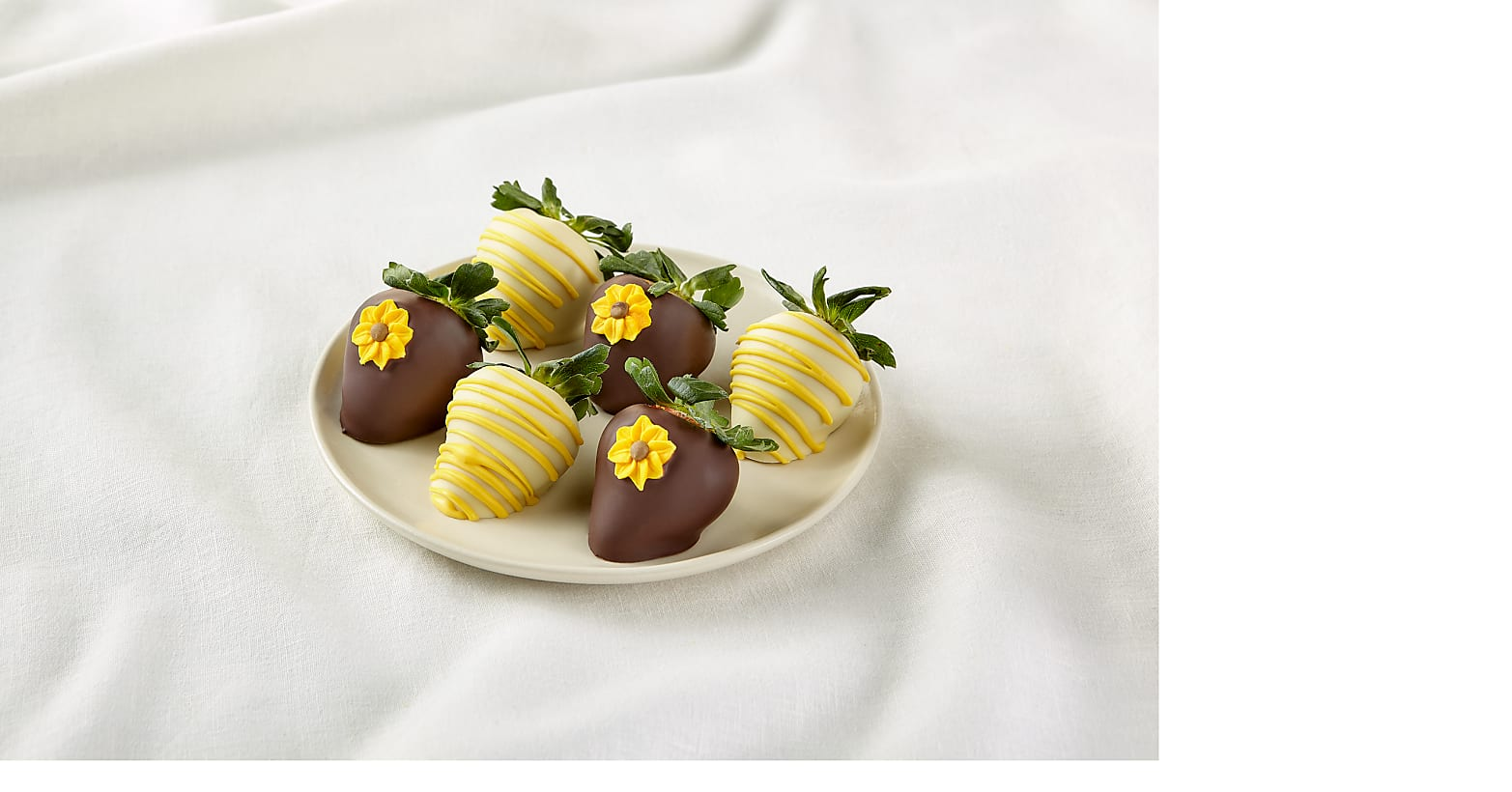 Half Dozen Sunny Days Belgian Chocolate-Covered Strawberries - Image 1 Of 2