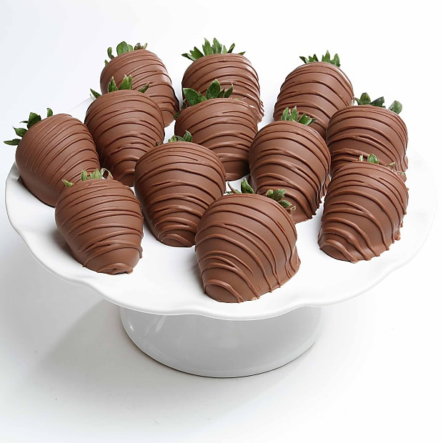Belgian Milk Chocolate Covered Strawberries