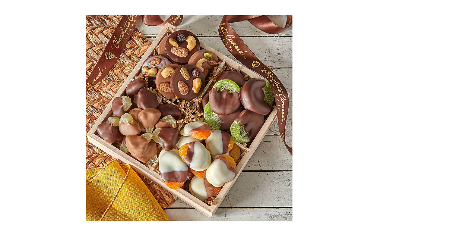 Belgian Chocolate–Dipped Fruit & Mendiant Gift Tray - Image 2 Of 2