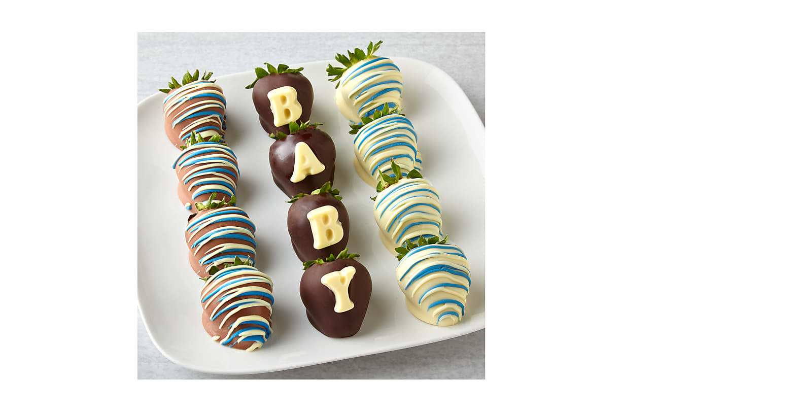 New Baby Blue Chocolate Covered Strawberries