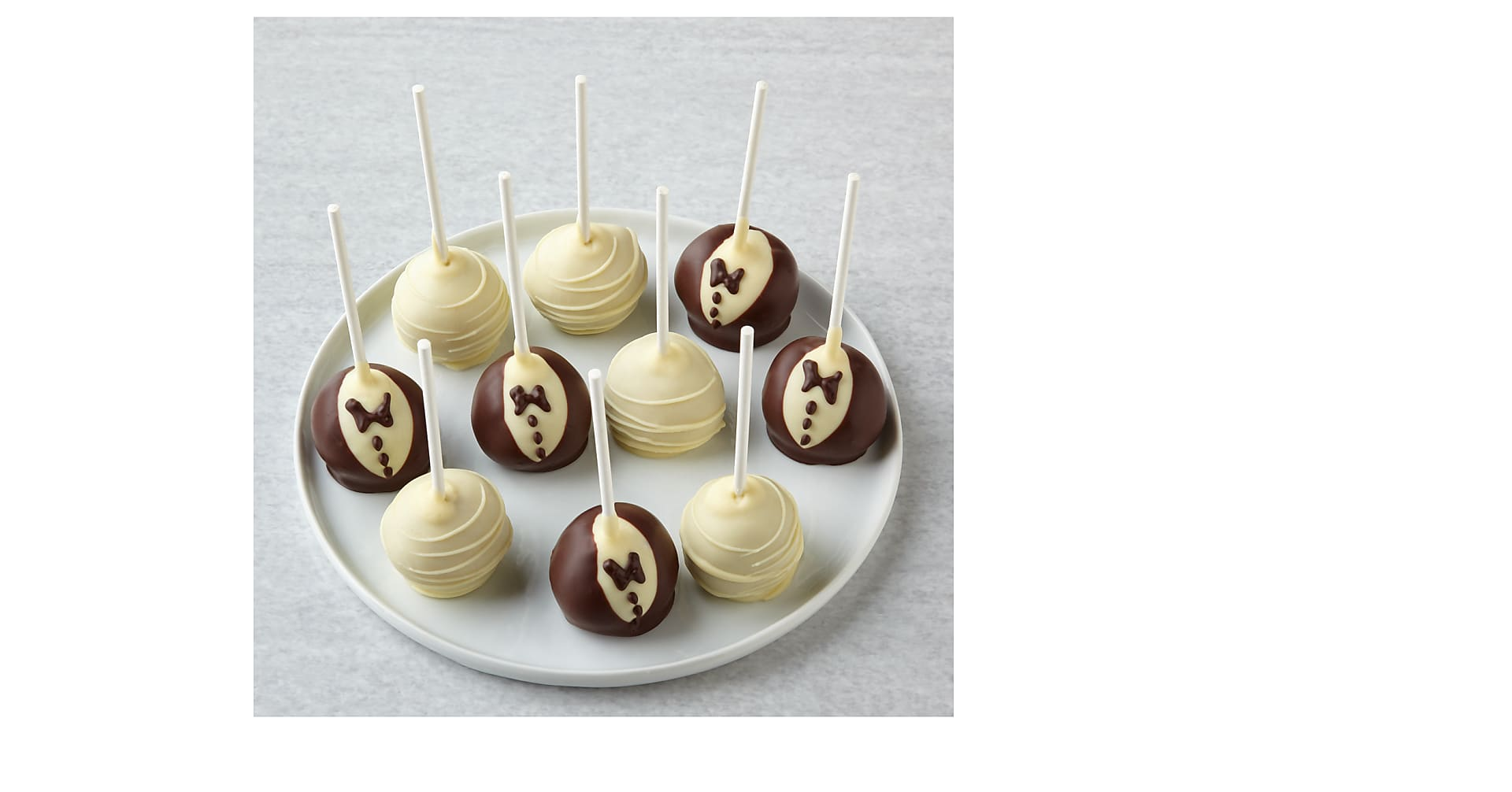 To the Bride and Groom Chocolate Covered Cake Pops - Image 1 Of 2