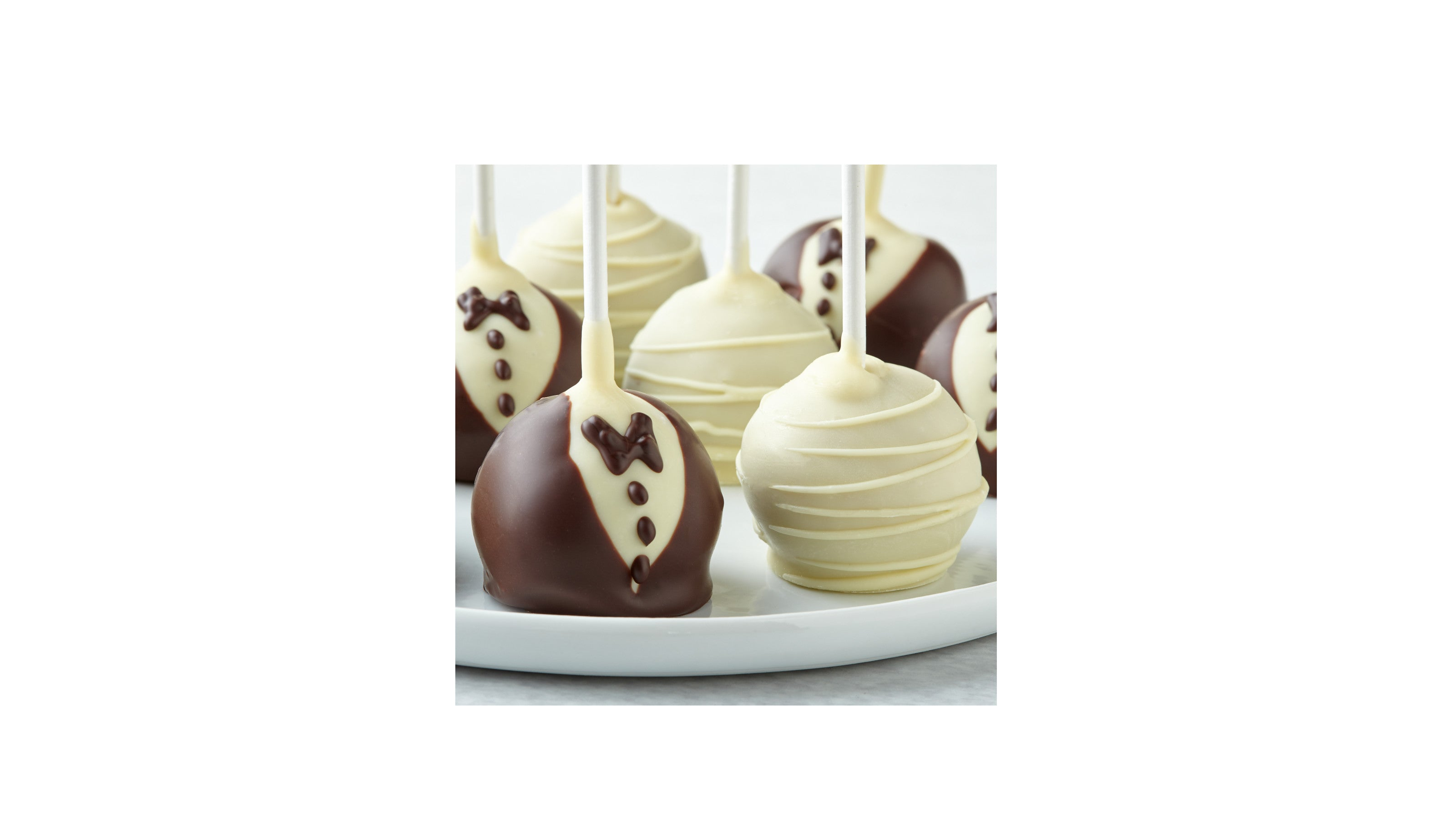 To the Bride and Groom Chocolate Covered Cake Pops