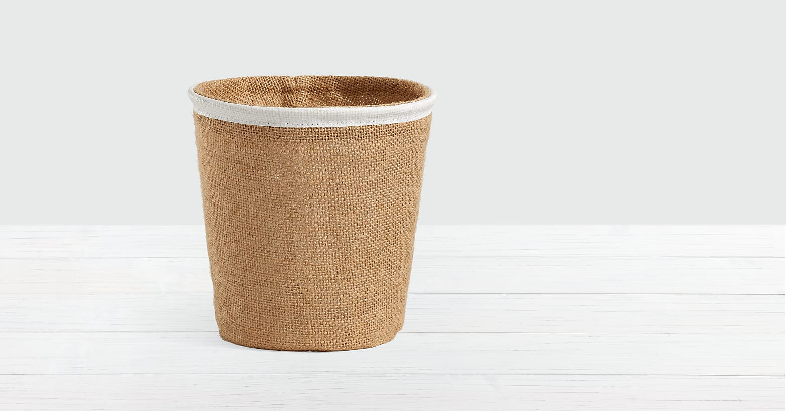 Lush Tropical Peace Lily in Burlap Container - Image 2 Of 2