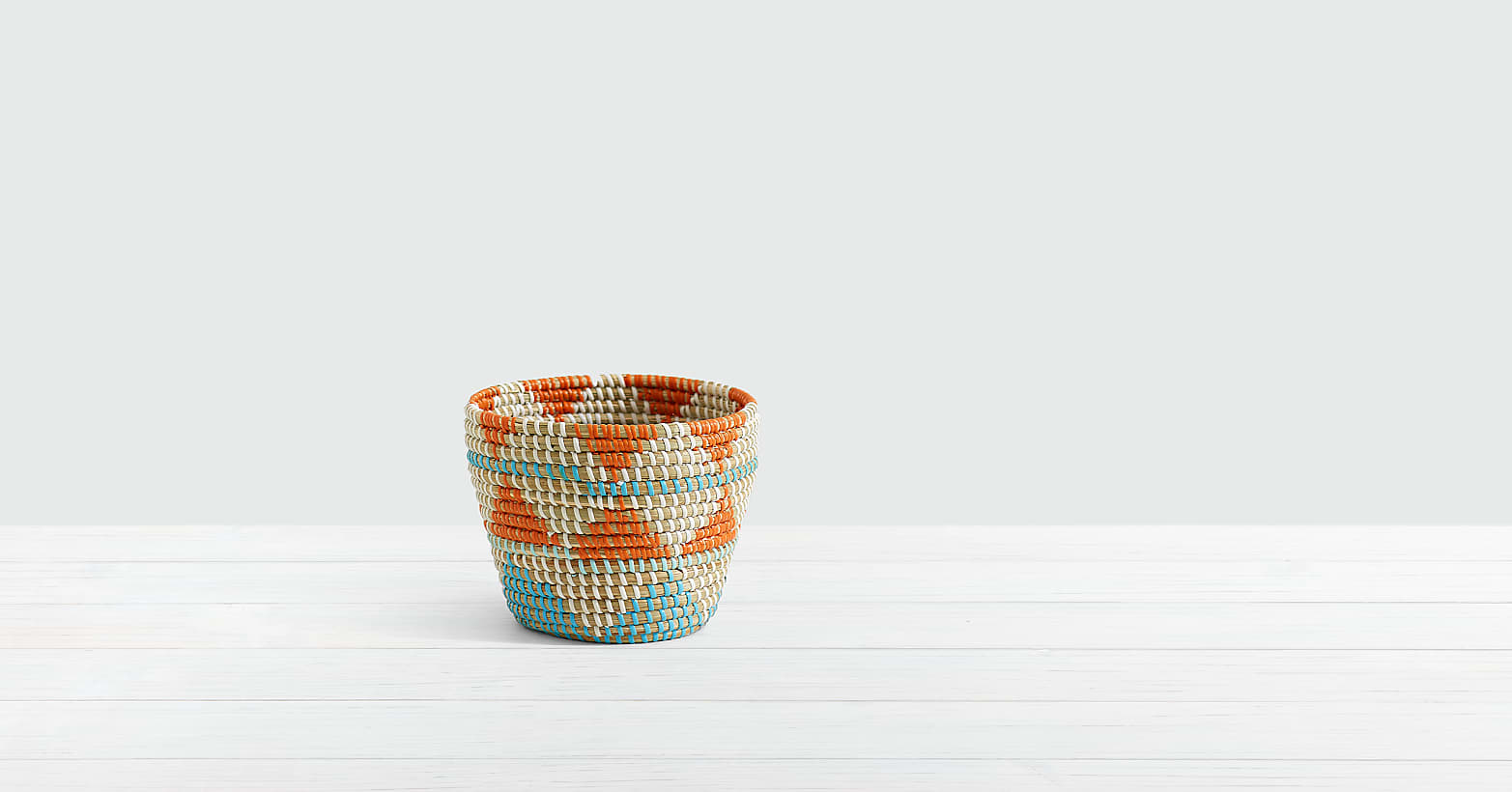 Braided Money Tree in Southwest Print Basket - Image 2 Of 2