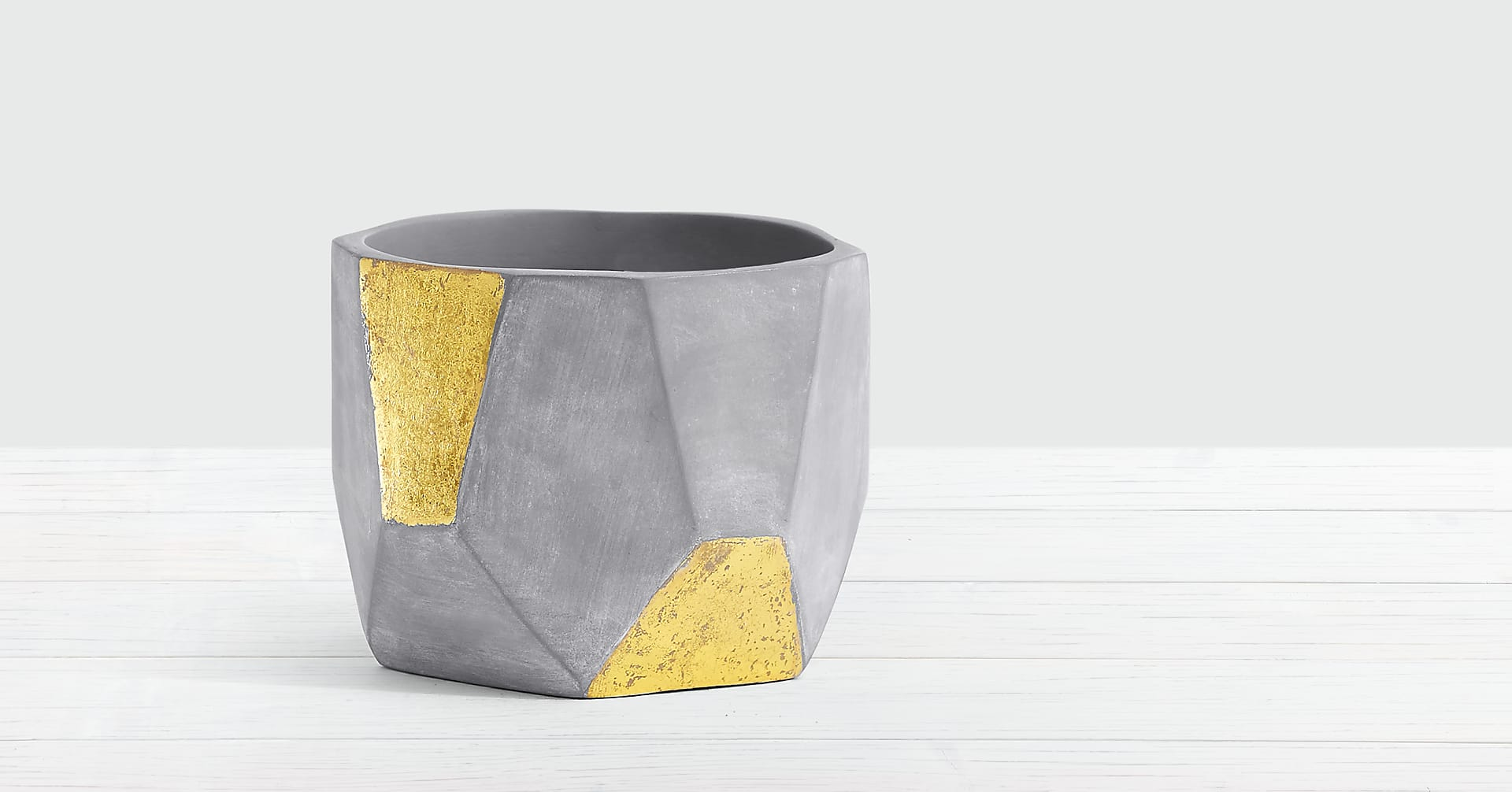 Succulent Garden in Gold & Grey Geo Clay Pot - Image 2 Of 3