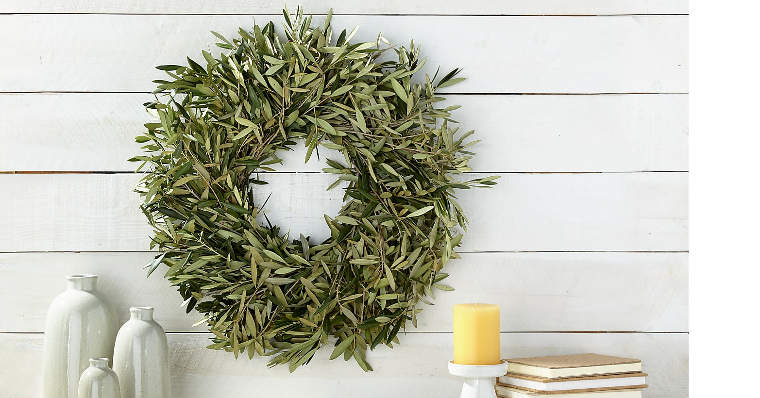 The Welcome Home Olive Wreath