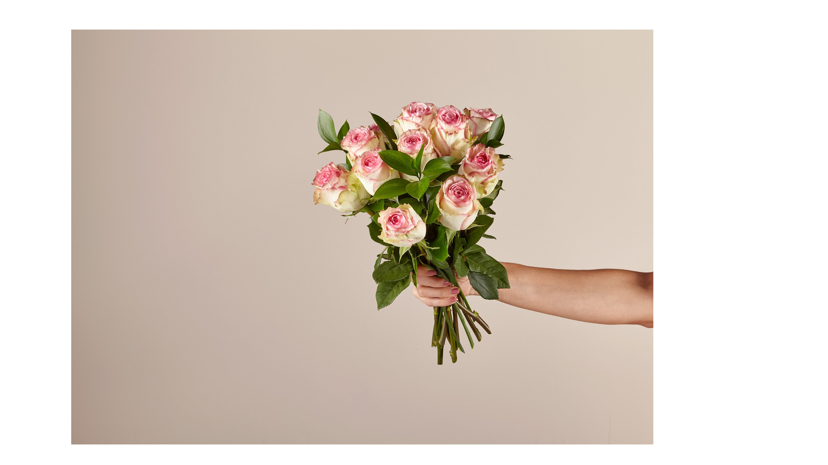 Pink Champagne Rose Bouquet