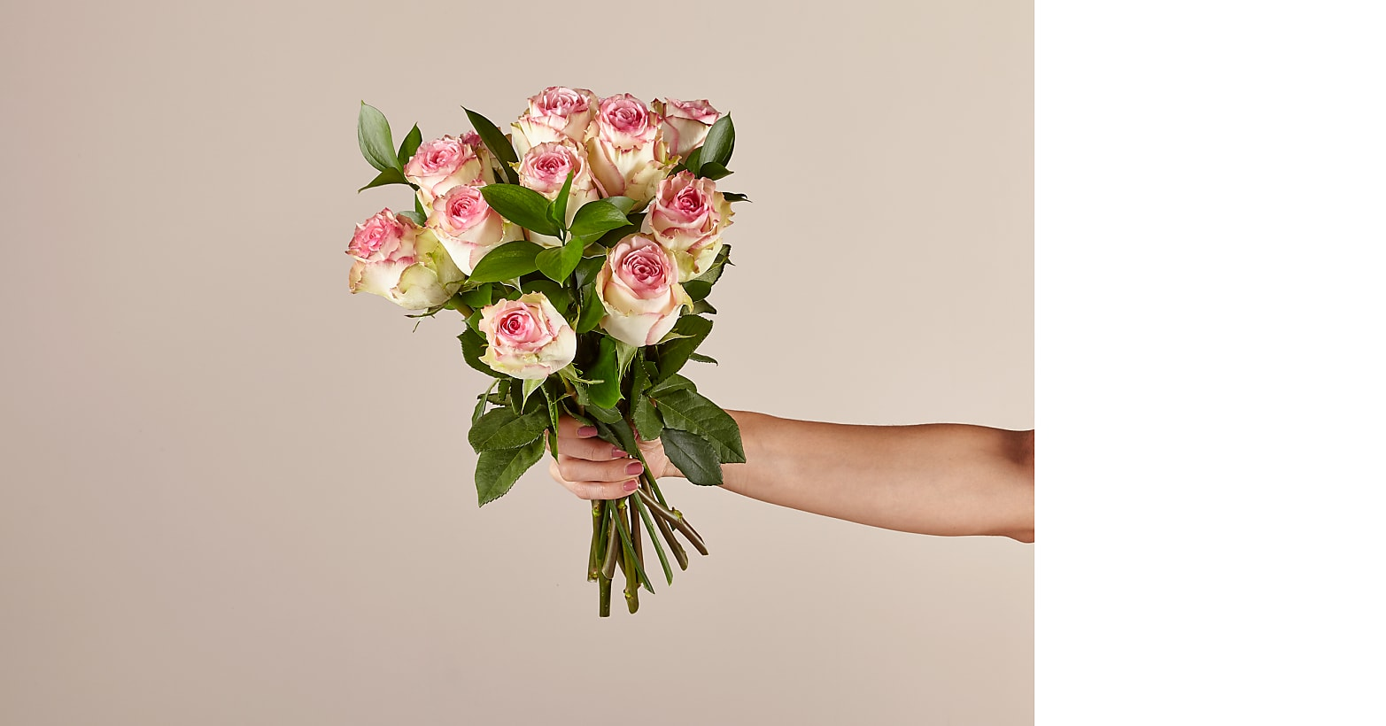 Pink Champagne Rose Bouquet - Image 1 Of 2