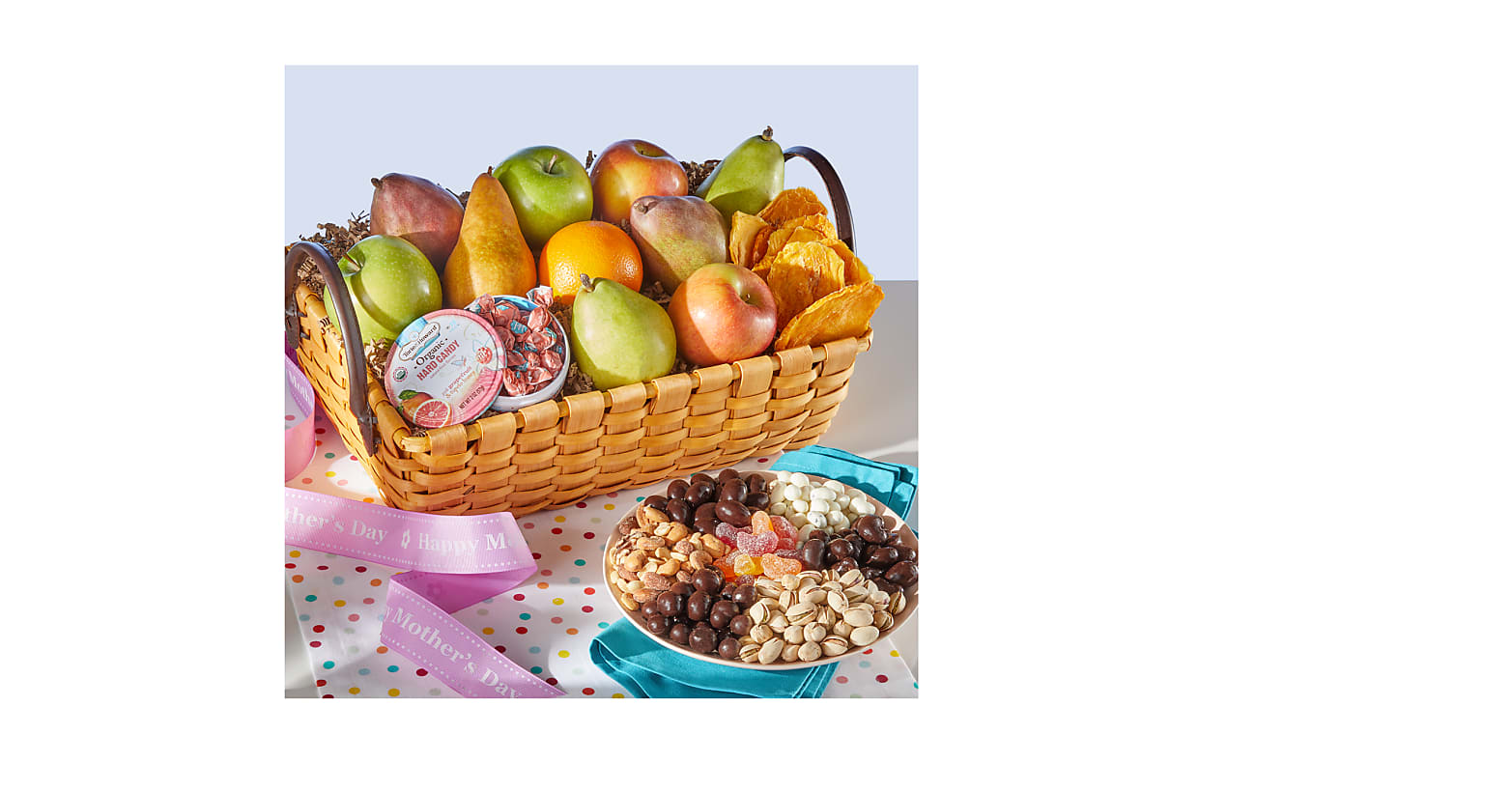 Mother's Day Organic Fruit & Sweets Gift Basket