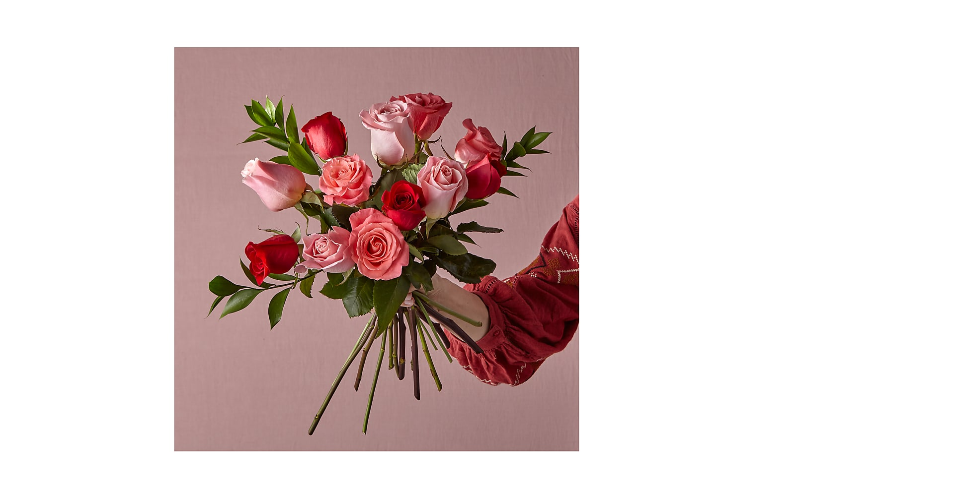 Sweetheart Mixed Rose Bouquet - Image 1 Of 2