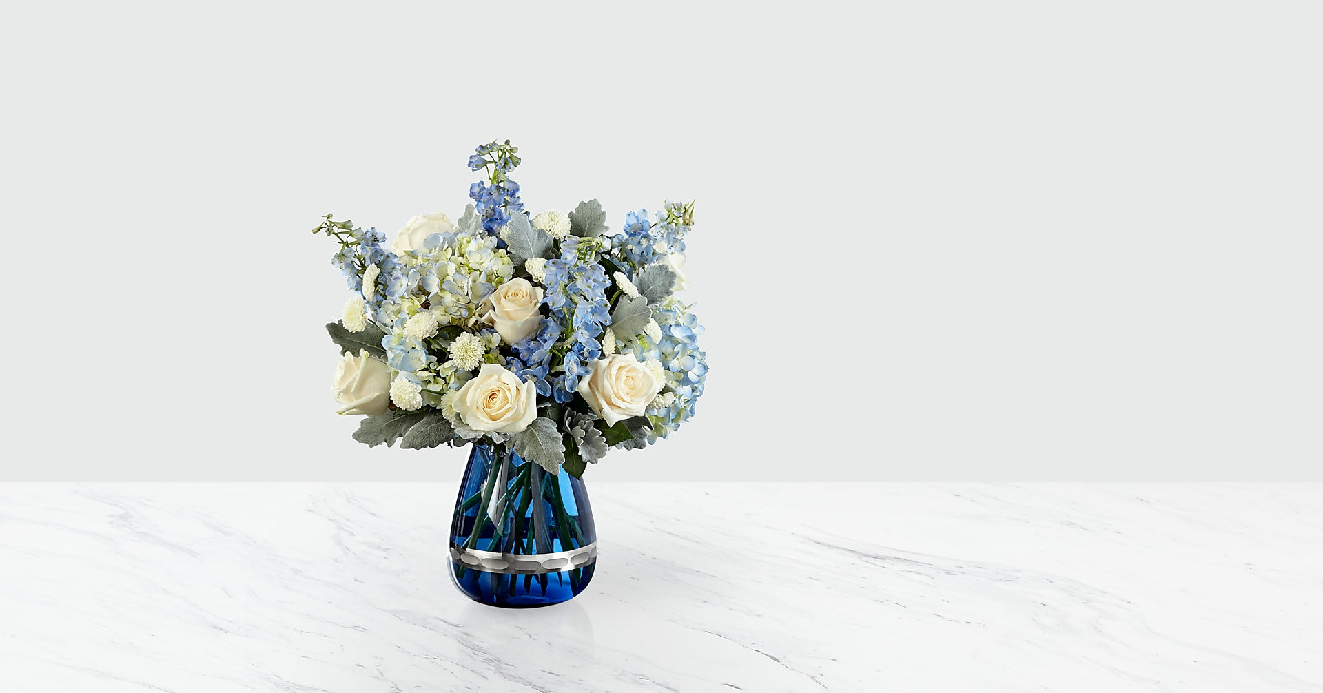 Faithful Guardian™ Bouquet - Blue & White - Image 1 Of 3