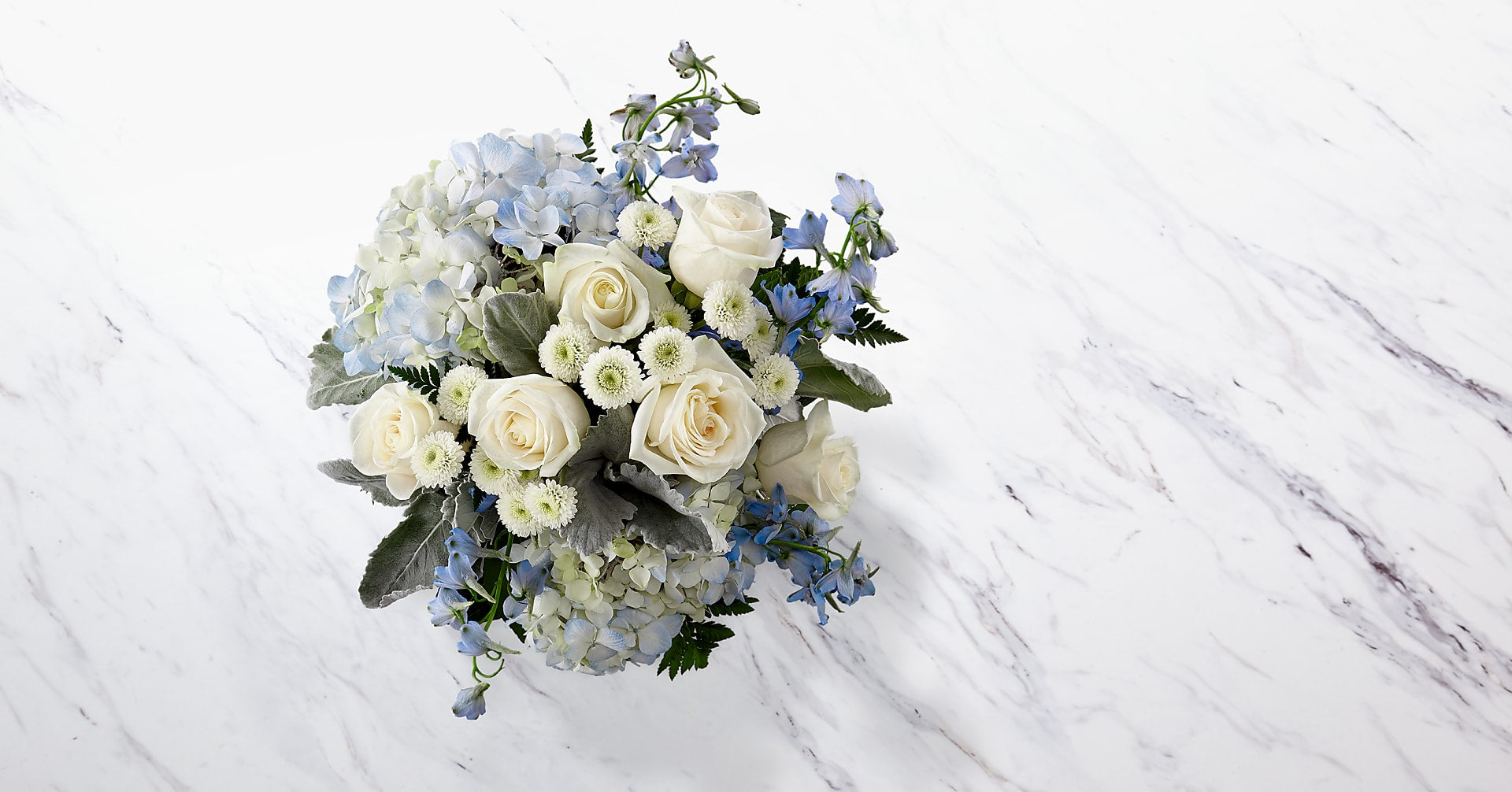 Faithful Guardian™ Bouquet - Blue & White - Image 2 Of 3