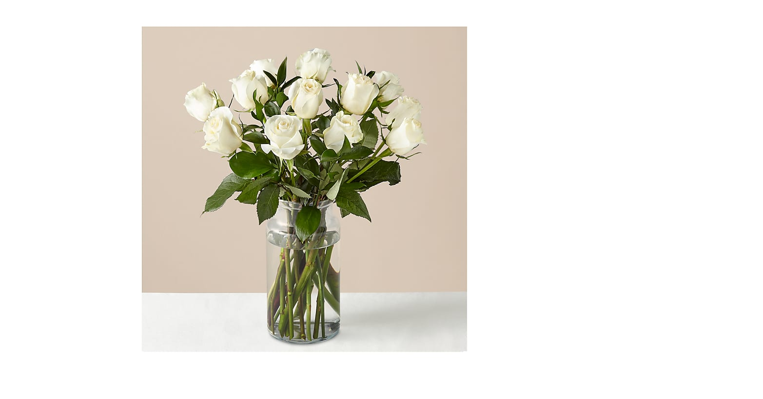 Moonlight White Rose Bouquet - Image 1 Of 3