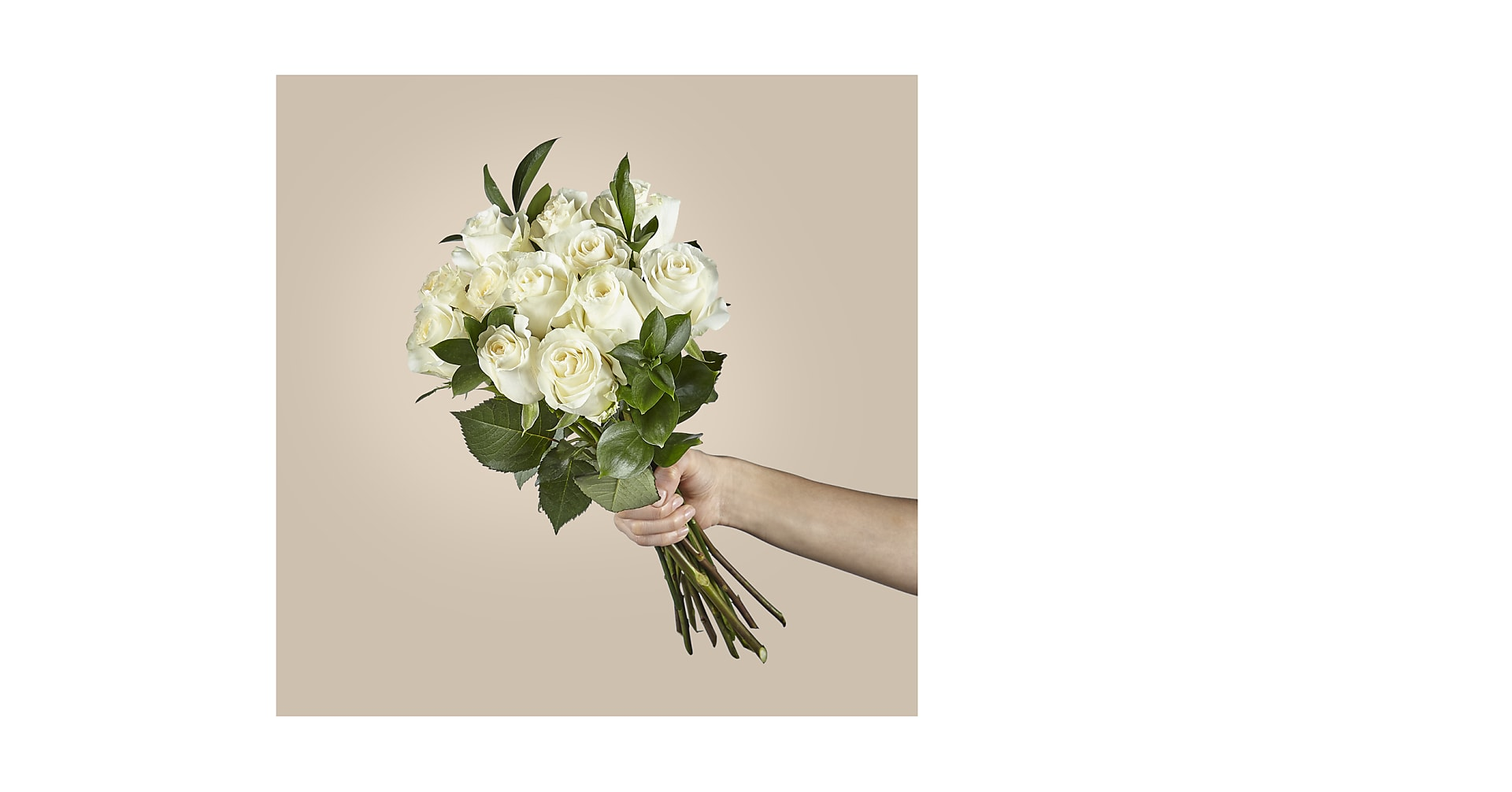 Moonlight White Rose Bouquet - Image 2 Of 3