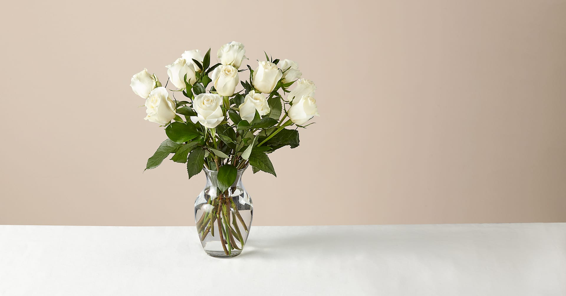 Moonlight White Rose Bouquet - Image 1 Of 2