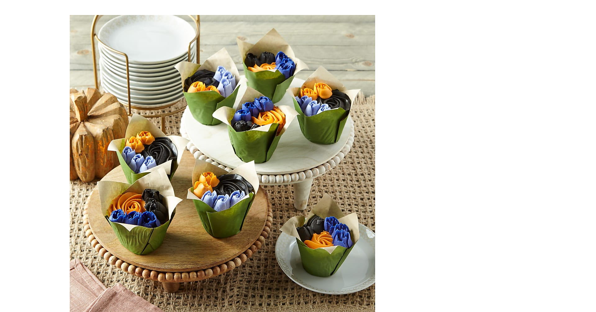 Fall Bouquet Cupcakes