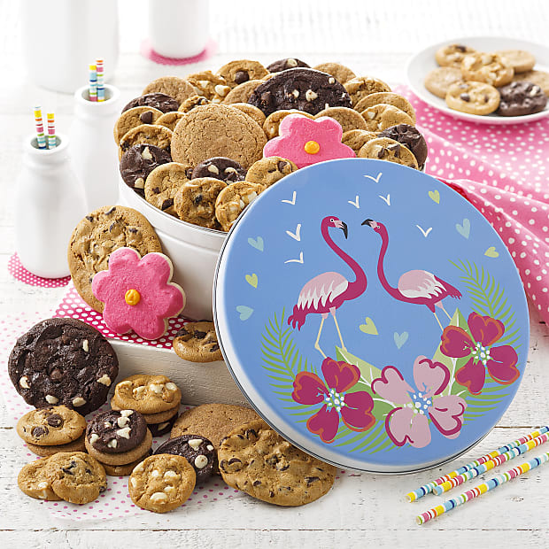 Mrs. Fields® Flamingo Combo Tin