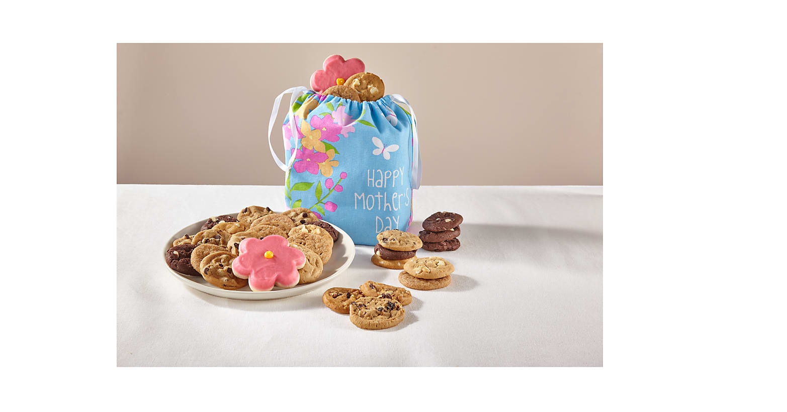 Mother's Day Treats & Floral Tote by Mrs. Fields® - Image 1 Of 2