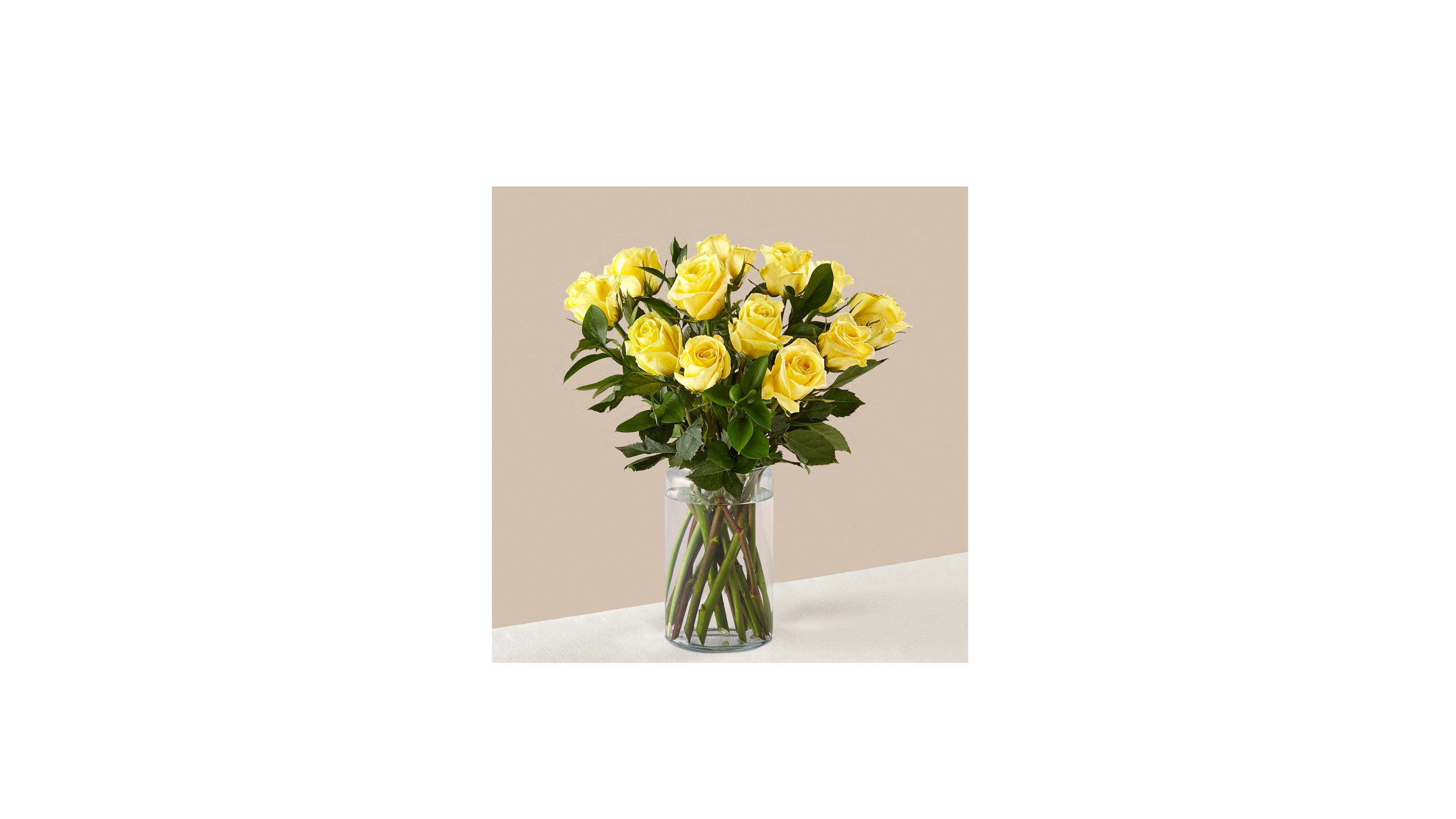 Ray of Sunshine Yellow Rose Bouquet