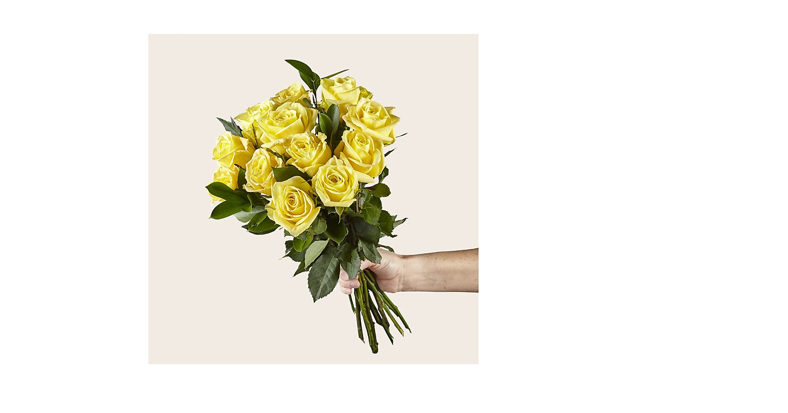 Ray of Sunshine Yellow Rose Bouquet - Image 2 Of 3