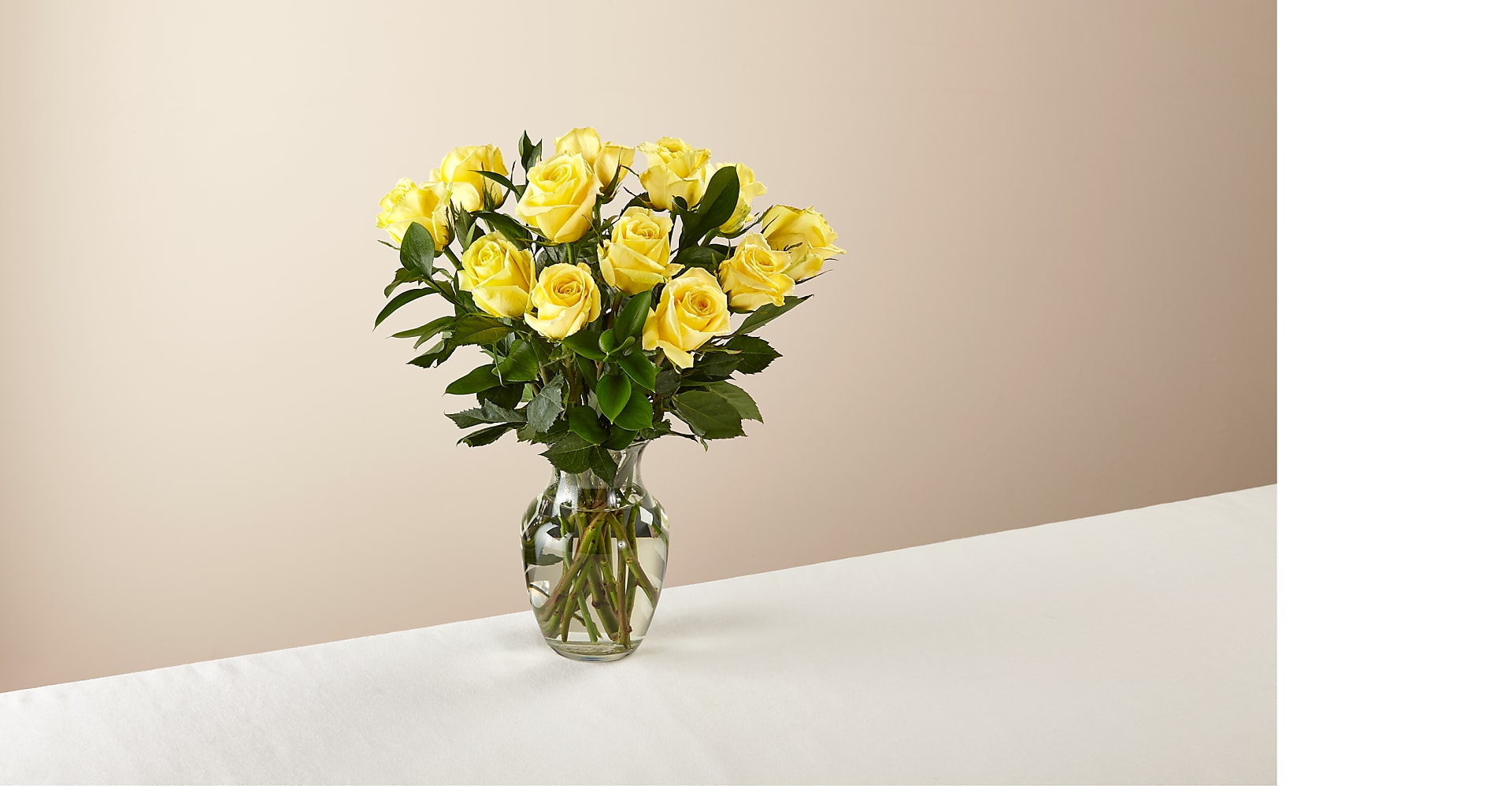 Ray of Sunshine Yellow Rose Bouquet - Image 1 Of 3