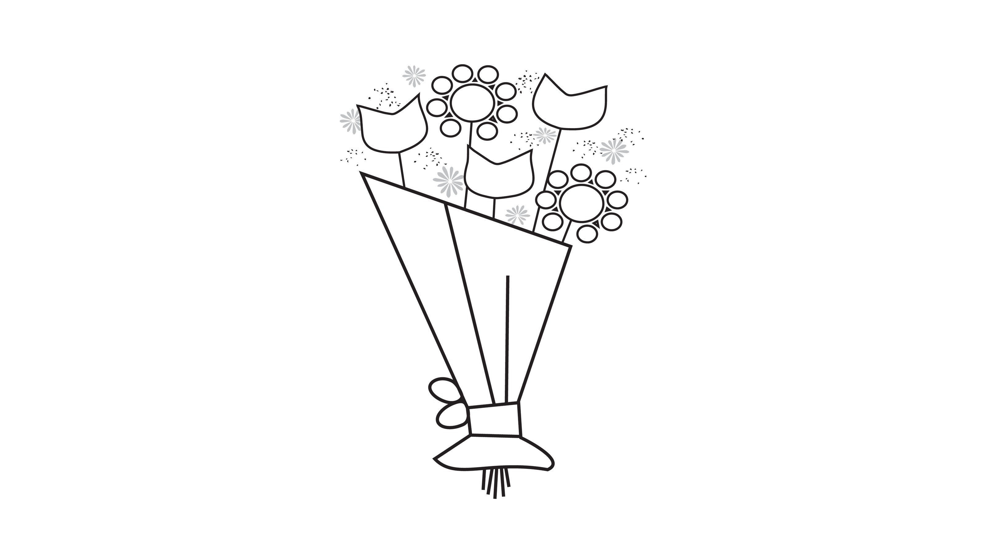 Deluxe Joyful Bouquet with Glass Vase - Thumbnail 1 Of 7