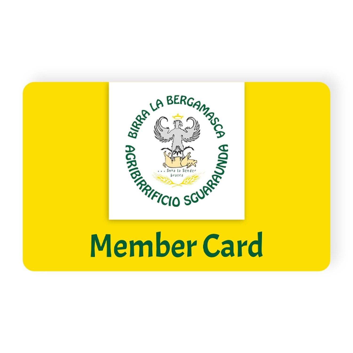 Yellow Member Card