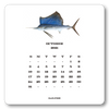 2021 Saltwater Gamefish Calendar with Easel