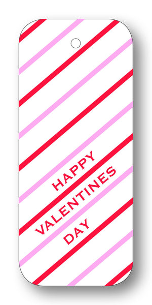 Diagonal Stripes Happy Valentine's Day