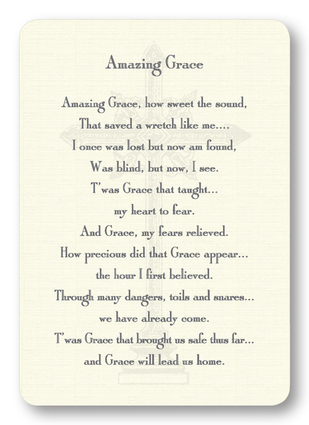 Amazing Grace Hymn (Package of 8)