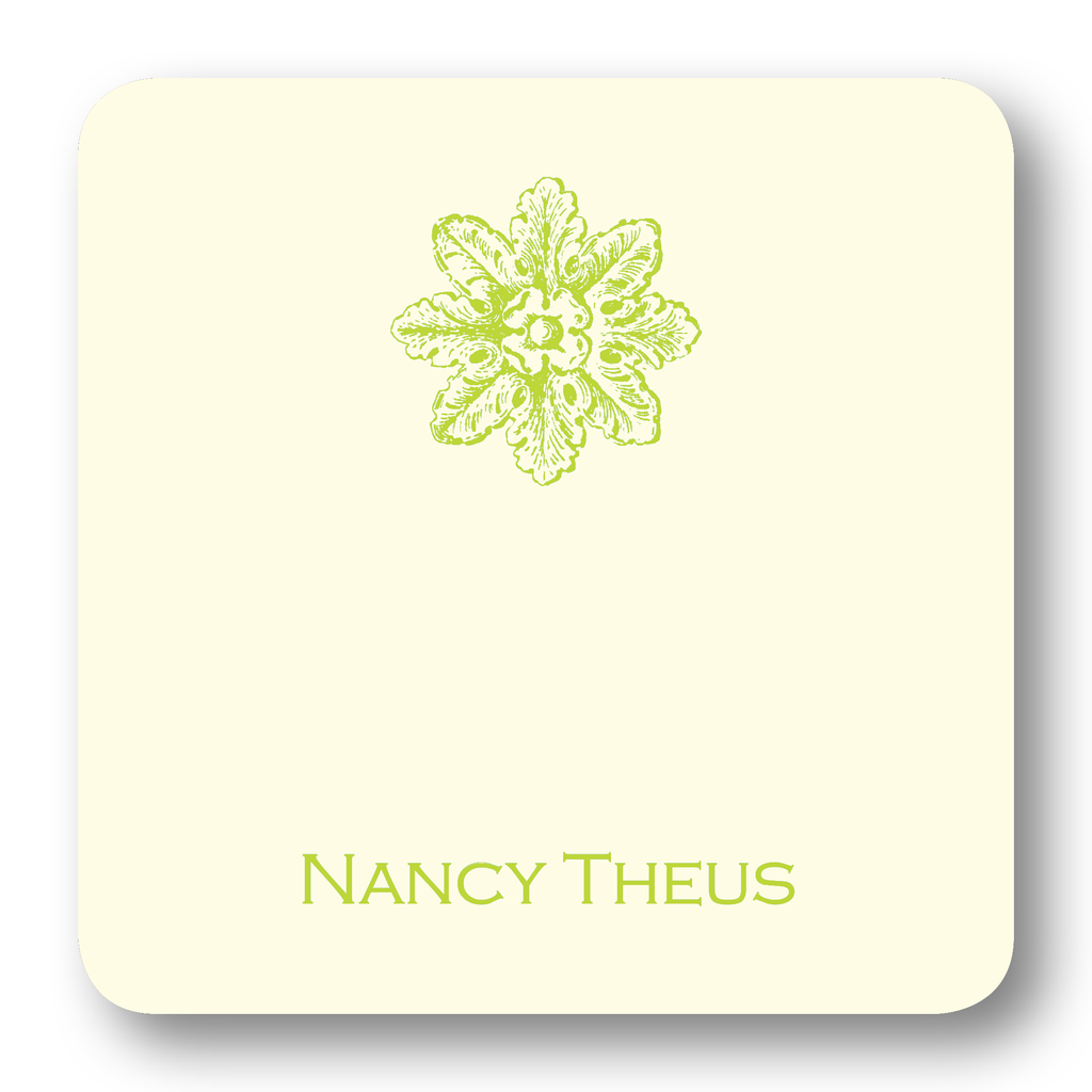 Acanthus Medallion - Chartreuse (Customizable)