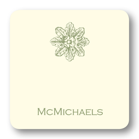 Acanthus Medallion - Sage (Customizable)