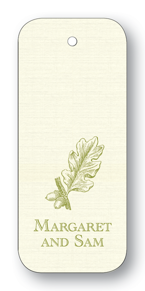 Acorn & Leaf - Olive (Customizable)