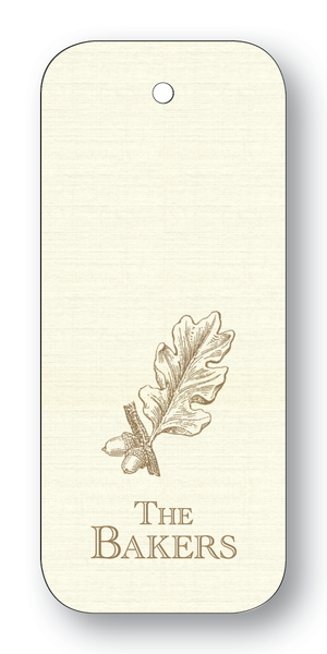 Acorn & Leaf - Pewter (Customizable)