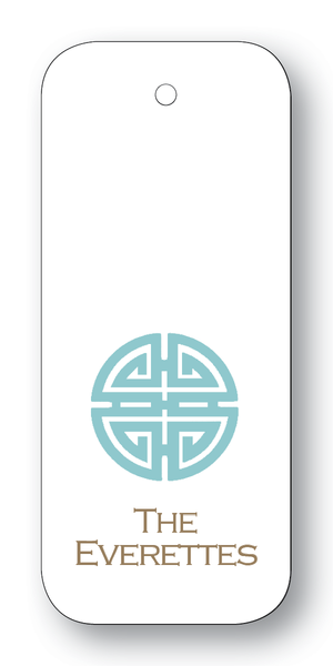 Asian Medallion - Celadon & Pewter (Customizable)