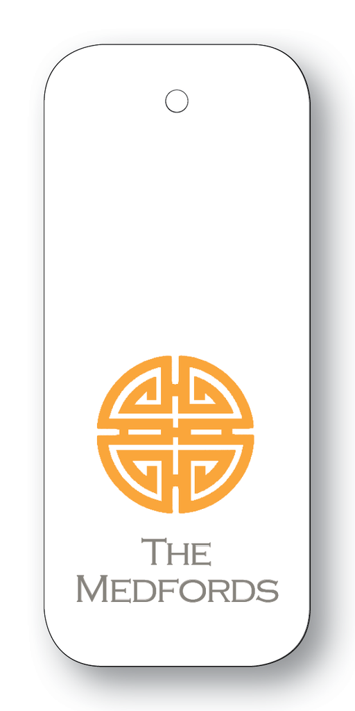 Asian Medallion - Orange & Charcoal (Customizable)