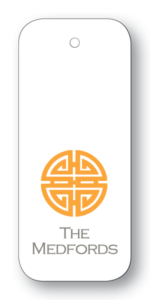 Asian Medallion Orange & Charcoal (Customizable)