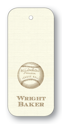 Baseball - Pewter (Customizable)