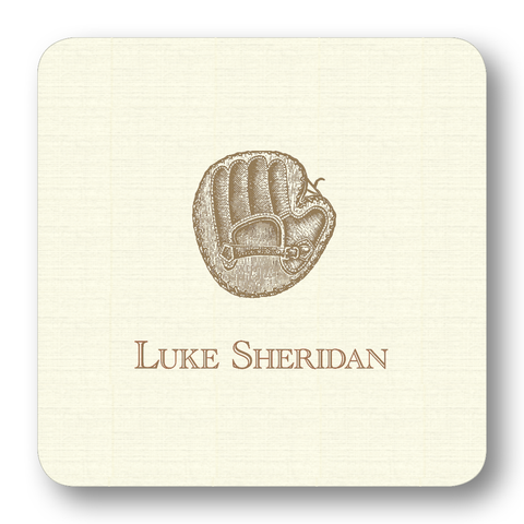 Sports - Baseball Glove, Pewter (Customizable)