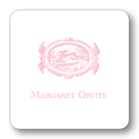 English Hare Oval - Pale Pink (Customizable)