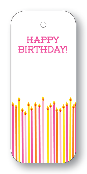 Happy Birthday! Candles Pink