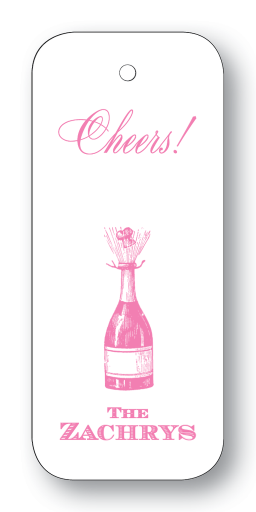 Champagne Bottle; Cheers or Enjoy - Azalea (Customizable)