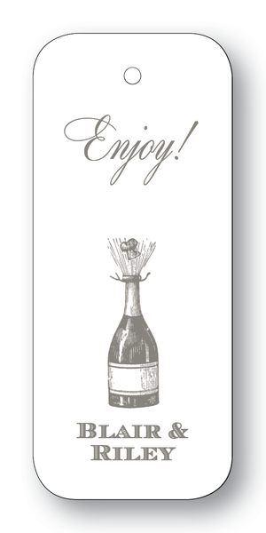 Champagne Bottle Charcoal (Customizable)